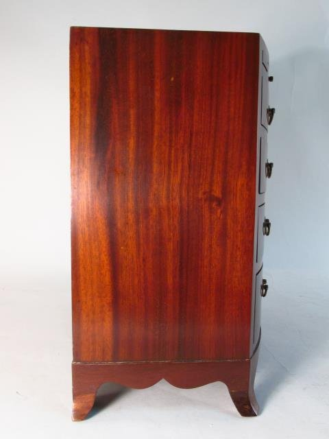 ANTIQUE SALESMANS SAMPLE BOWFRONT CHEST OF DRAWERS - 5