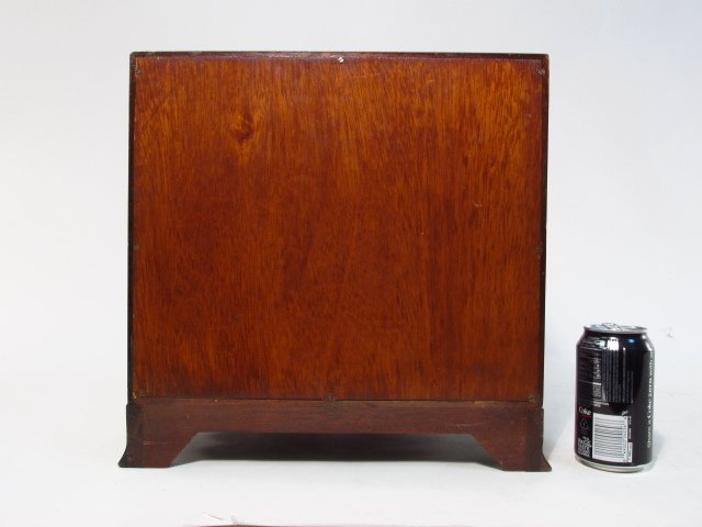 ANTIQUE SALESMANS SAMPLE BOWFRONT CHEST OF DRAWERS - 6