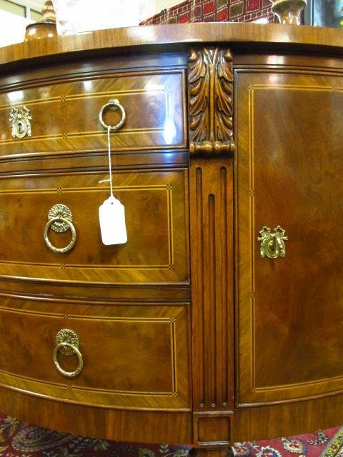 KARGES PARQUETRY INLAID BURLED WOOD DEMI-SIDEBOARD - 3