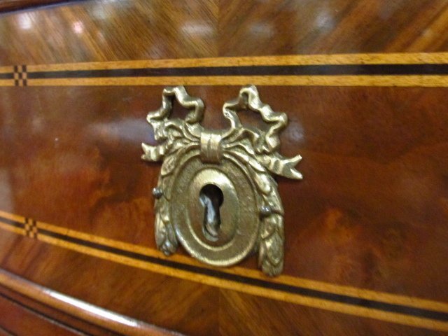 KARGES PARQUETRY INLAID BURLED WOOD DEMI-SIDEBOARD - 4