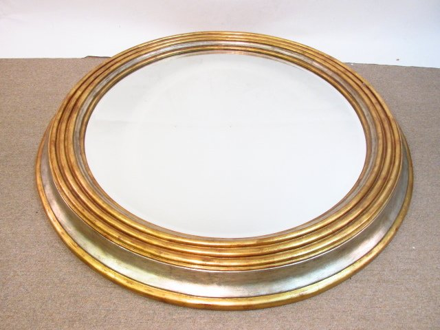 LARGE MAITLAND SMITH CIRCULAR BEVELED GLASS WALL M