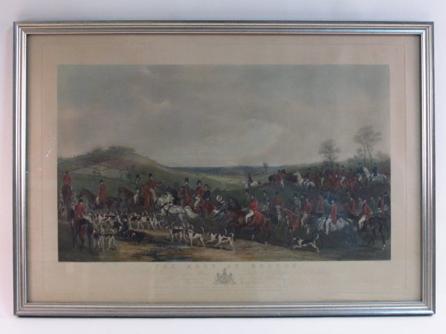 "ANTIQUE ENGRAVING ""THE MEET AT MELTON"" HUMPHRYS"