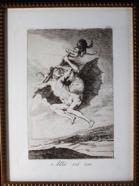 FRANCISCO JOSE DE GOYA ORIGINAL ETCHING: ALLA VA E