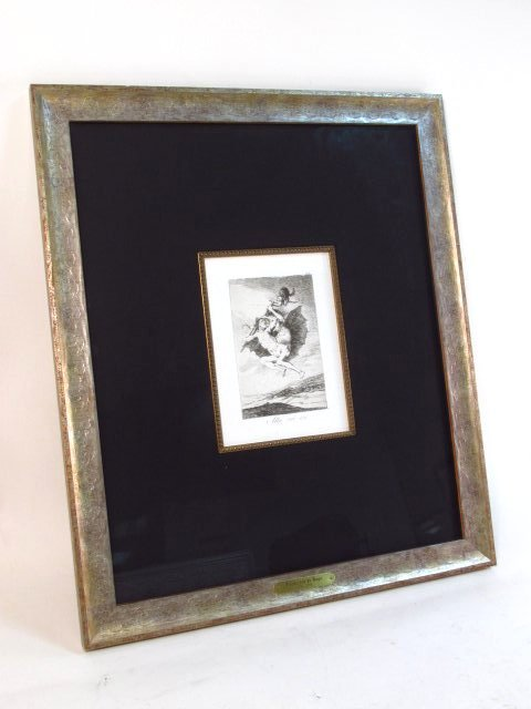 FRANCISCO JOSE DE GOYA ORIGINAL ETCHING: ALLA VA E - 2