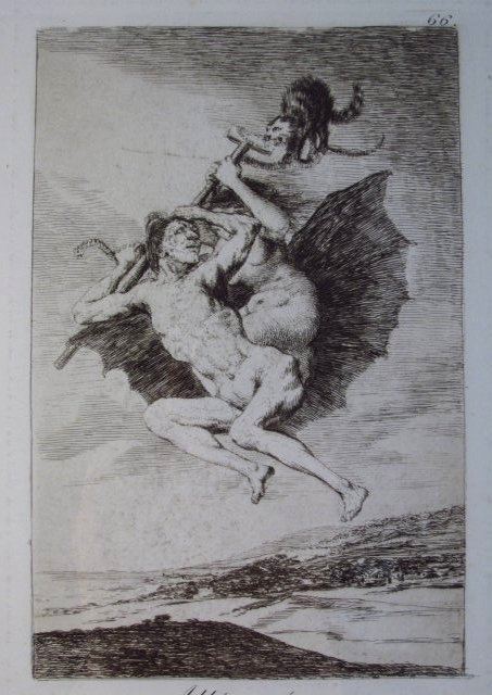 FRANCISCO JOSE DE GOYA ORIGINAL ETCHING: ALLA VA E - 3