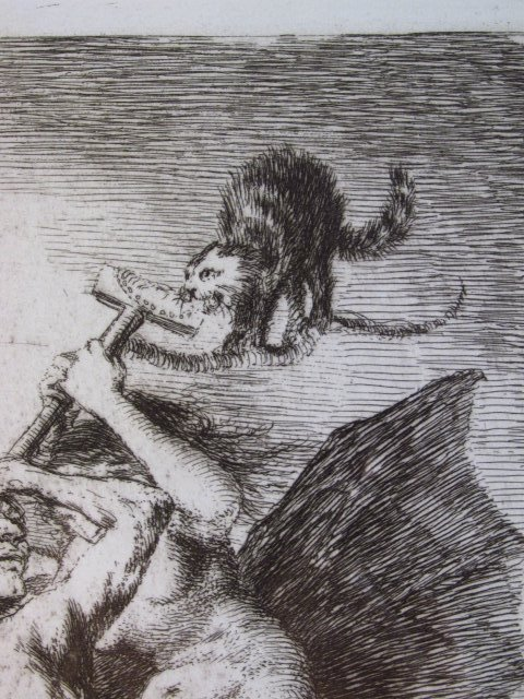 FRANCISCO JOSE DE GOYA ORIGINAL ETCHING: ALLA VA E - 5