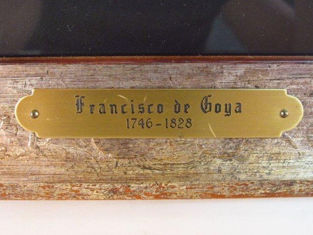 FRANCISCO JOSE DE GOYA ORIGINAL ETCHING: ALLA VA E - 7