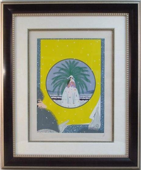 "ERTE HAND SIGNED COLOR SERIGRAPH: ""RIVIERA 2"""