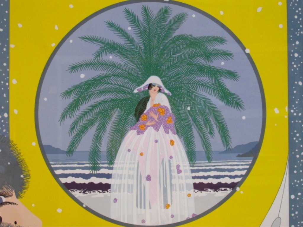 "ERTE HAND SIGNED COLOR SERIGRAPH: ""RIVIERA 2"" - 4"