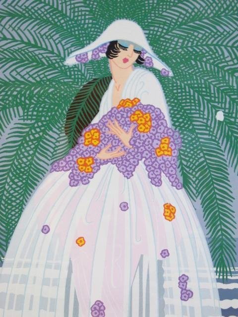 "ERTE HAND SIGNED COLOR SERIGRAPH: ""RIVIERA 2"" - 5"