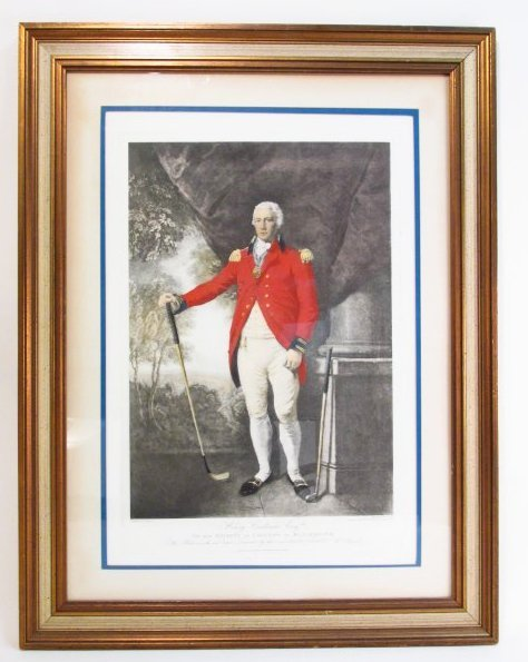 """HAND COLORED LITHOGRAPH: """"HENRY CALLENDER ESQ"""""""