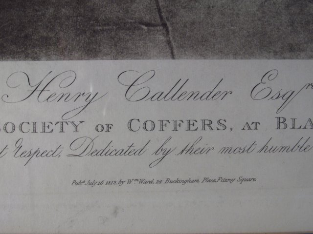 """HAND COLORED LITHOGRAPH: """"HENRY CALLENDER ESQ"""" - 5"""