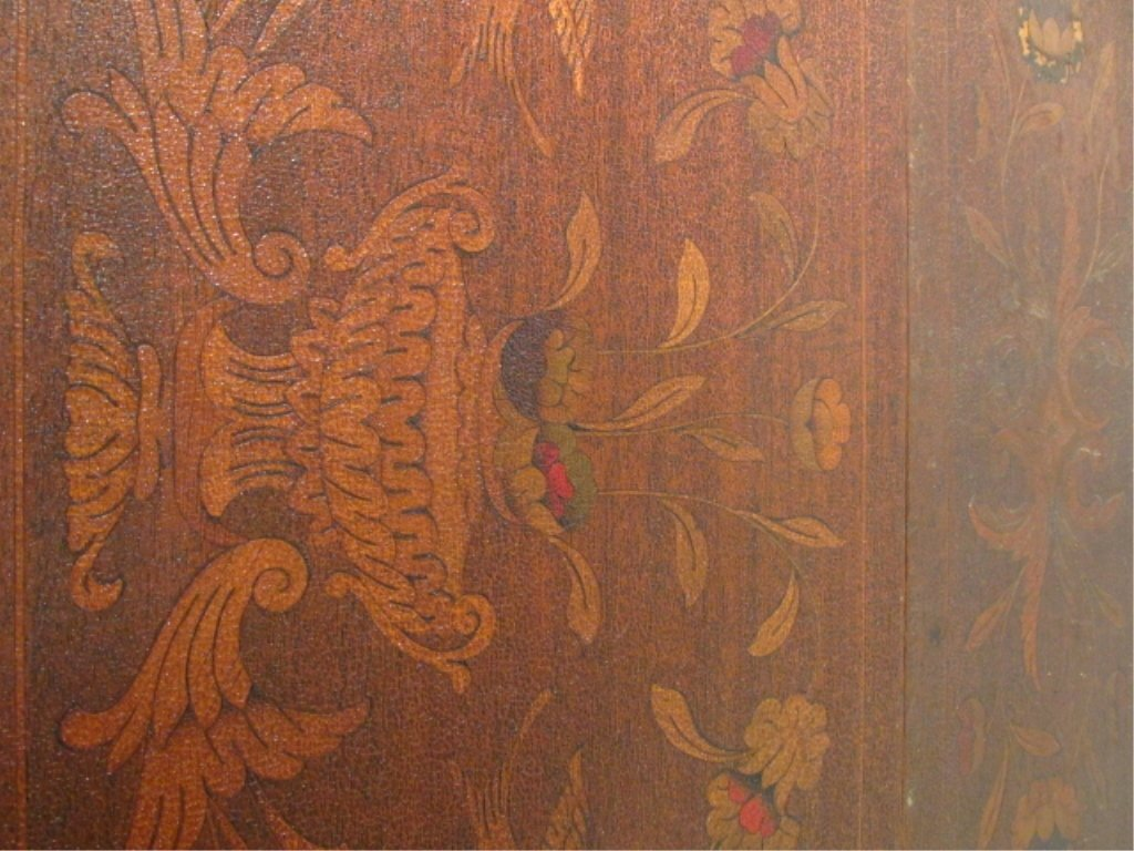 PAIR MARQUETRY INLAID DROP LEAF SIDE TABLES - 5