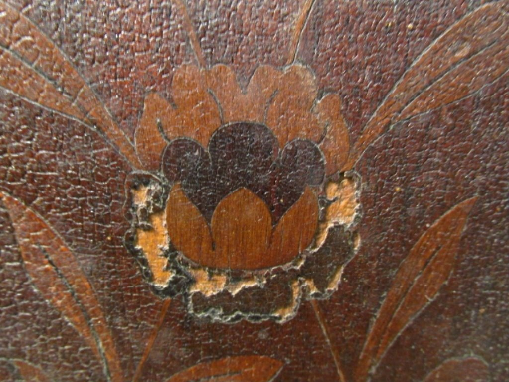 PAIR MARQUETRY INLAID DROP LEAF SIDE TABLES - 8
