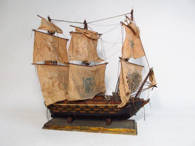 "VINTAGE MODEL SHIP ""NAVIO ESPANOL"""