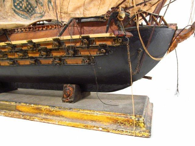 "VINTAGE MODEL SHIP ""NAVIO ESPANOL"" - 4"