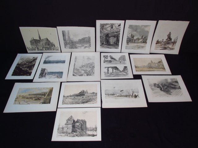 COLLECTION OF FIFTEEN MUIRHEAD BONE LITHOGRAPHS