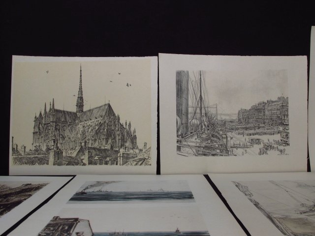 COLLECTION OF FIFTEEN MUIRHEAD BONE LITHOGRAPHS - 3