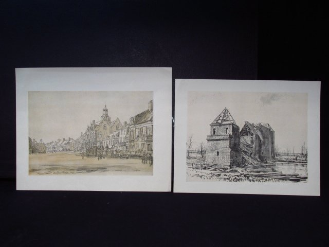 COLLECTION OF FIFTEEN MUIRHEAD BONE LITHOGRAPHS - 8