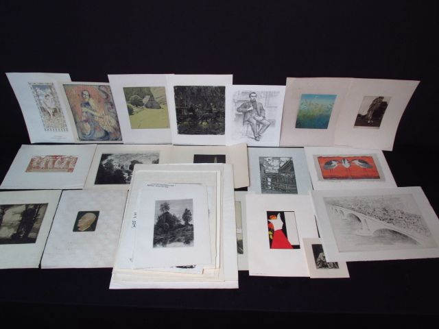 LARGE COLLECTION OF ASSORTED GERMAN PRINTS, ETC.
