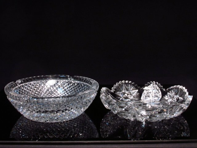 GROUP LOT 13 PCS CUT CRYSTAL & GLASS - 6
