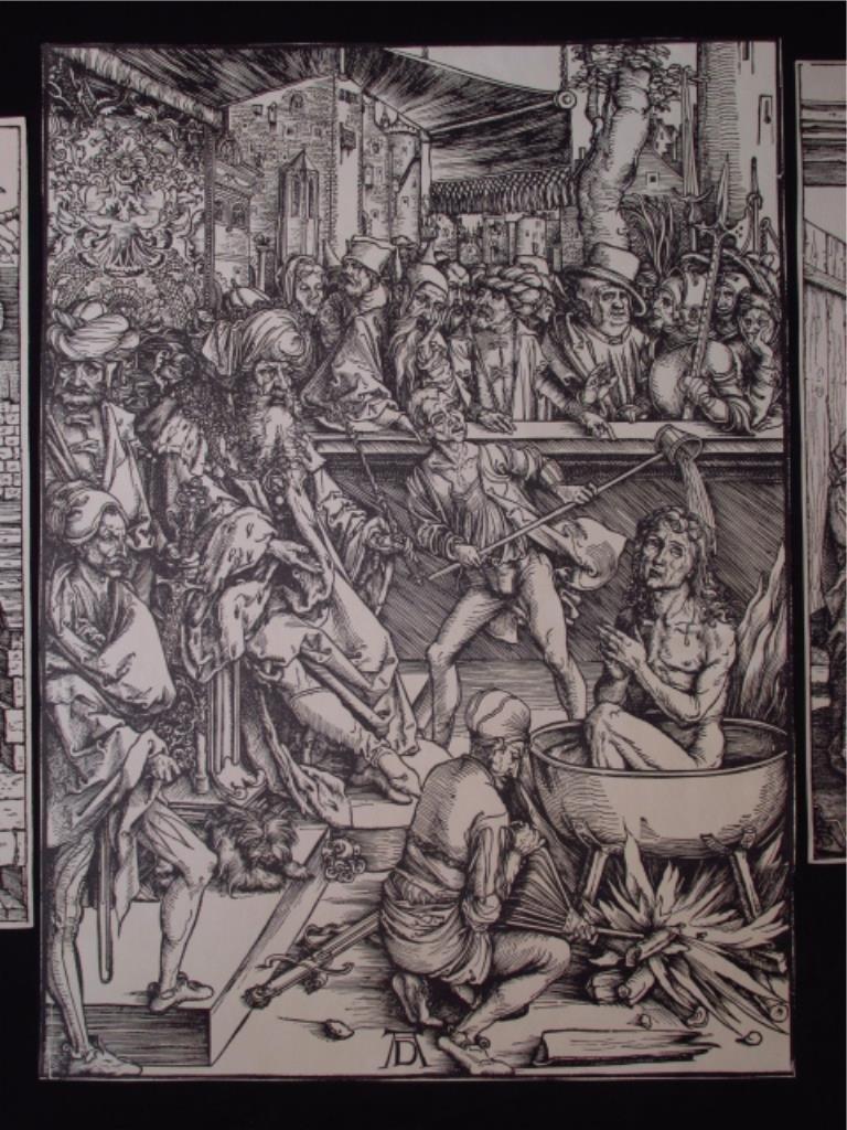 FOUR ALBRECHT DURER POSTHUMOUS WOODCUT PRINTS - 5
