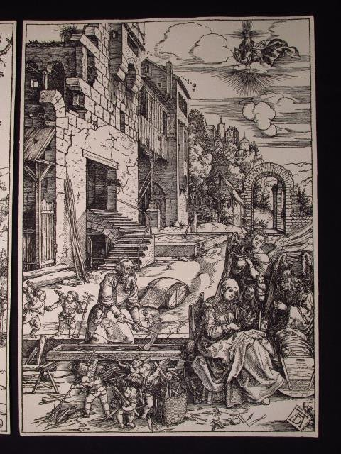 FOUR ALBRECHT DURER POSTHUMOUS WOODCUT PRINTS - 9