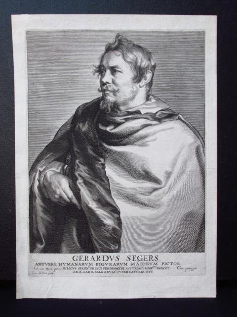 PAULUS PONTIUS ETCHING AFTER VAN DYCK: SEGERS