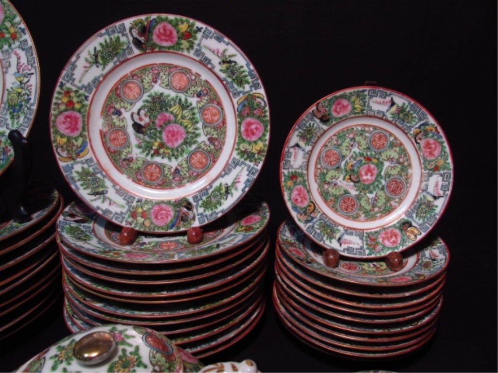 CHINESE ROSE MEDALLION DINNERWARE SET: 66 PCS - 6
