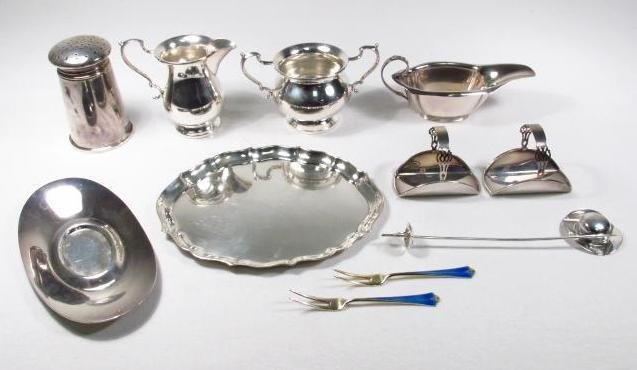 LOT OF VARIOUS STERLING SILVER SERVING ACC. 23.5 T