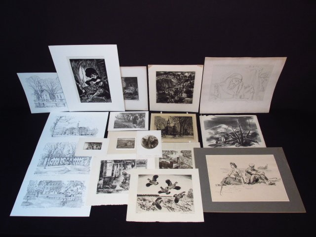 COLLECTION ASSORTED AMERICAN PRINTS - 14 PCS