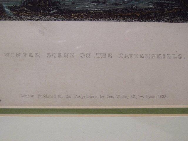 FOUR FRAMED BARTLETT ENGRAVINGS: CATSKILLS - 3