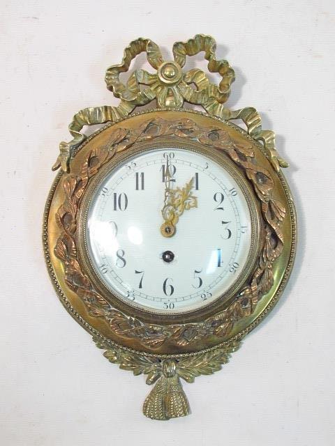 LATE 19TH C FRENCH ORMOLU WALL CLOCK