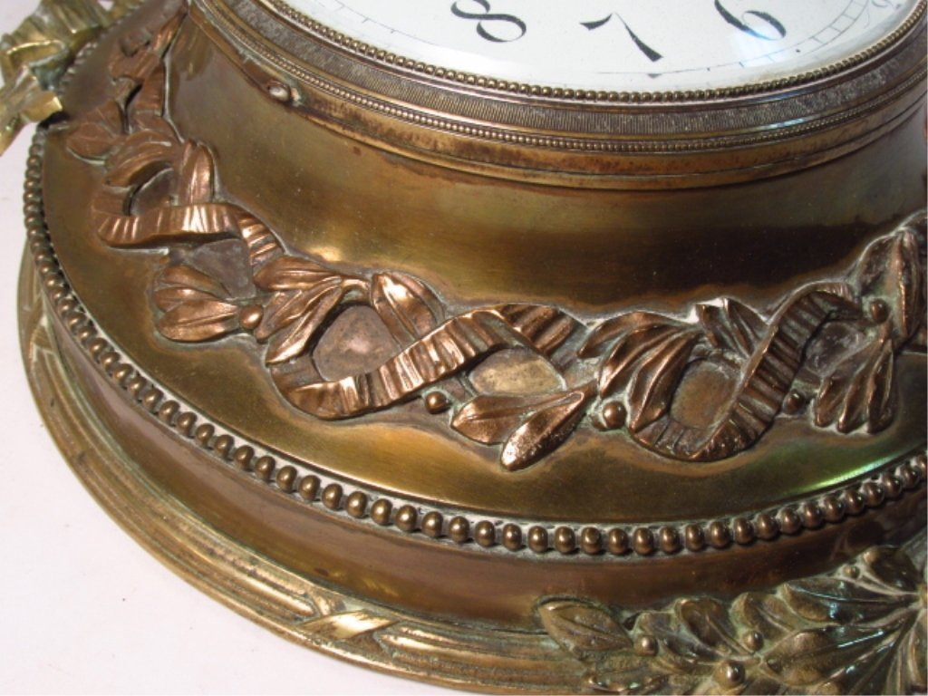 LATE 19TH C FRENCH ORMOLU WALL CLOCK - 3