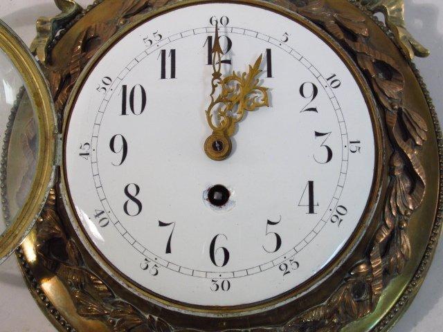 LATE 19TH C FRENCH ORMOLU WALL CLOCK - 5