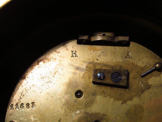 LATE 19TH C FRENCH ORMOLU WALL CLOCK - 9
