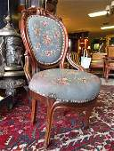 VICTORIAN CARVED WOOD SIDE CHAIR