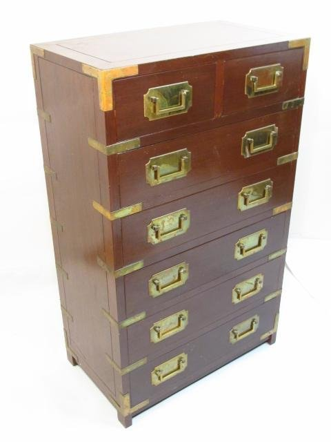HEAVY GEORGE ZEE & CO METAL MOUNTED MAHOGANY CHEST