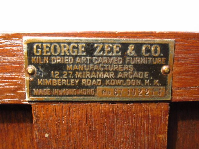 HEAVY GEORGE ZEE & CO METAL MOUNTED MAHOGANY CHEST - 6