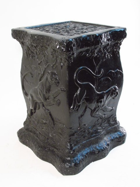 BLACK PAINTED PEDESTAL