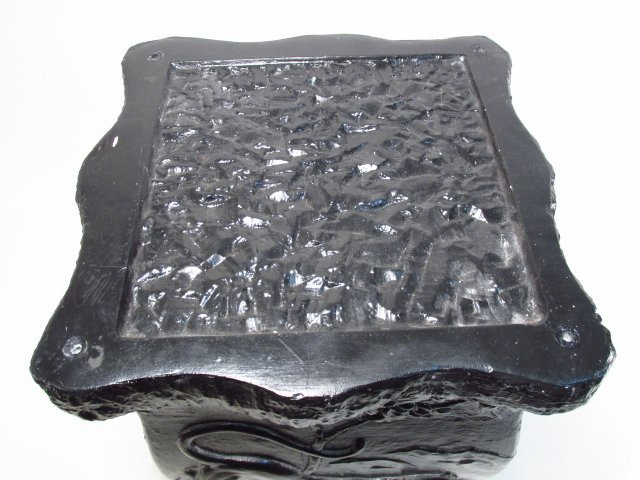BLACK PAINTED PEDESTAL - 3