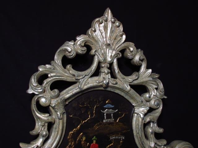 LARGE CHINOISERIE STYLE WALL MIRROR - 2