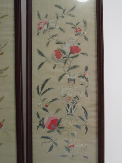 FOUR JAPANESE FRAMED SILK TAPESTRIES - 2