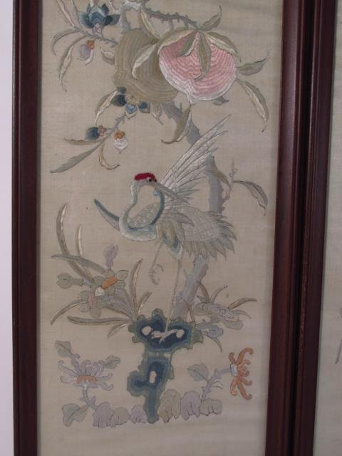 FOUR JAPANESE FRAMED SILK TAPESTRIES - 6