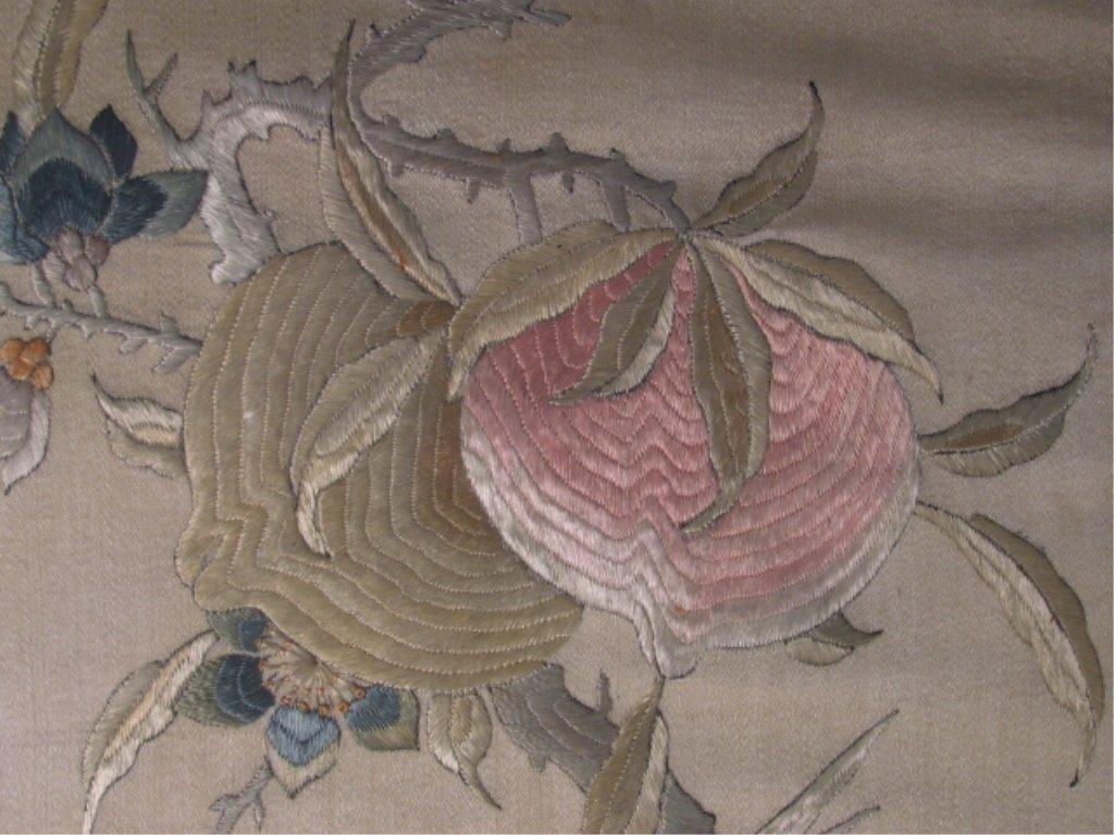 FOUR JAPANESE FRAMED SILK TAPESTRIES - 8