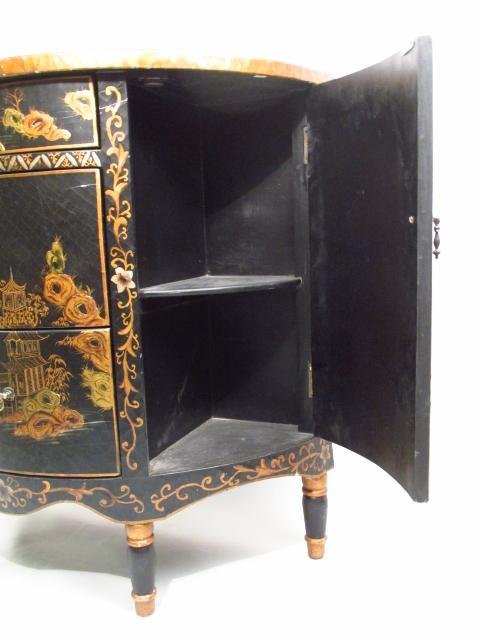 CHINOISERIE STYLE DEMILUNE CHEST OF DRAWERS - 5