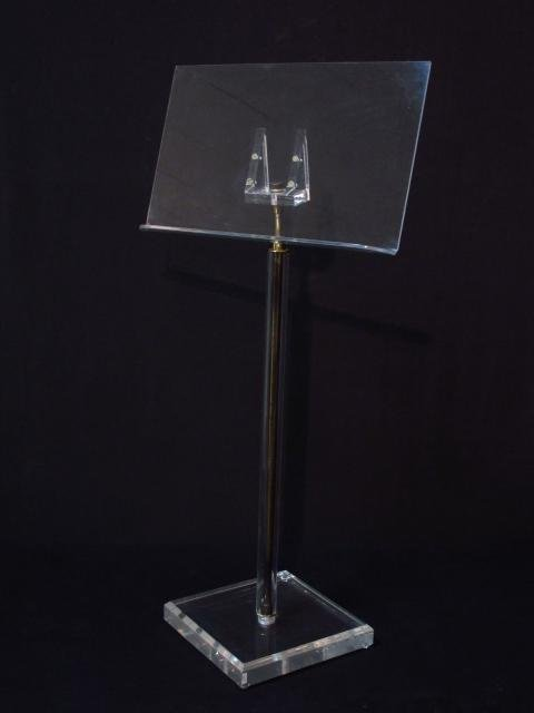 VINTAGE LUCITE MUSIC STAND
