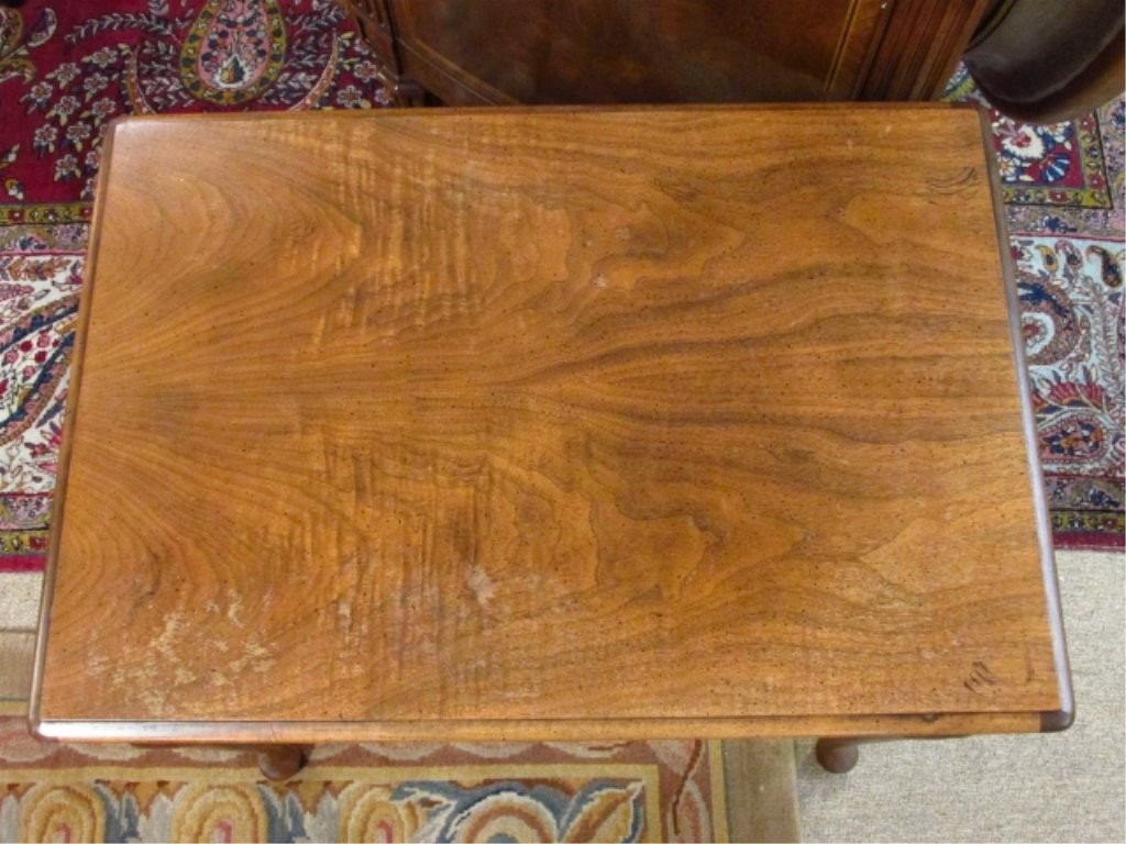 SMALL BURLED WOOD ONE DRAWER SIDE TABLE - 5