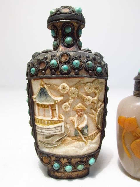 FOUR VINTAGE CHINESE SNUFF BOTTLES - 6