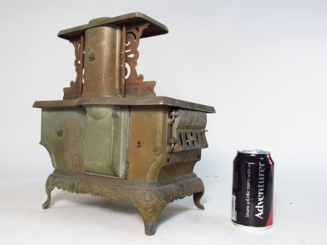 TWO ANTIQUE CAST IRON SALESMAN'S SAMPLE STOVES - 2